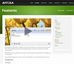 Affixa Web Page