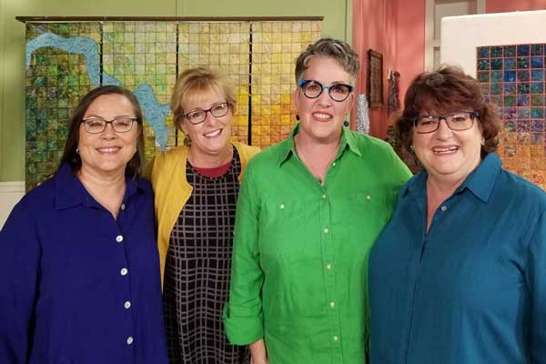 Behind The Scenes At Quilting Arts Tv Pixeladies Pixeladies Quilting Arts Tv